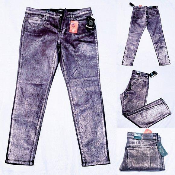 Ralph Lauren Denim - 🆕Lauren Ralph Lauren Gunmetal Coated Skinny Jeans